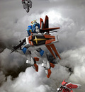 Force Impulse,Zaku Warrior and Phantom Zaku