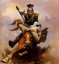 frank frazetta flashmanonthecharge