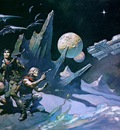 frank frazetta space103attack