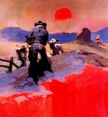 frank frazetta sunset