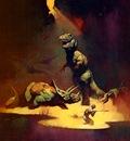 frank frazetta tyrannosaurusrex