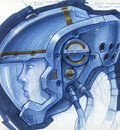 Blue Space Helmet