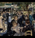 ball at the moulin de la galette, renoir,