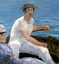 On a Boat, Manet