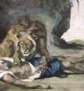 Lion Rending Apart a Corpse, Delacroix