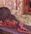 Columbian Woman on a Divan, Matias Morales