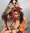 chris achilleos lynx woman
