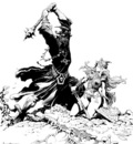 frank frazetta bw lordoftherings