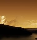 x1024 left Sunset Lake by pepo
