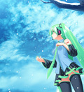 hatsune miku sky vocaloid