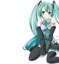 hatsune miku thighhighs vocaloidhite