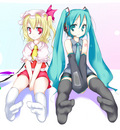 crossover flandre scarlet hatsune miku touhou vocaloid