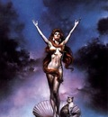 Boris Vallejo   Venus on the Halfshell