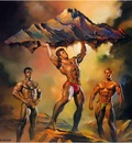 Boris Vallejo   Weight Lifting