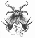 Boris Vallejo   skull and horns