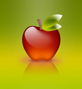 apple of glass green