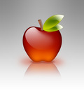 apple of glass white